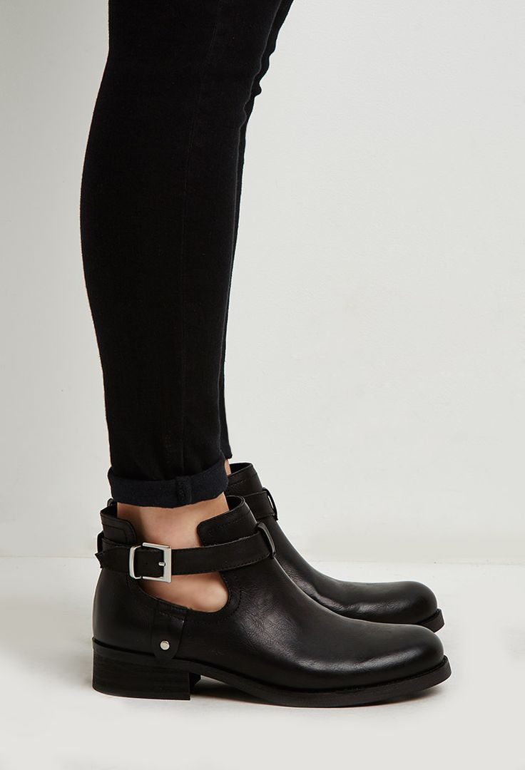 Buckled Ankle-Strap Booties | Forever 21 - 2000167470