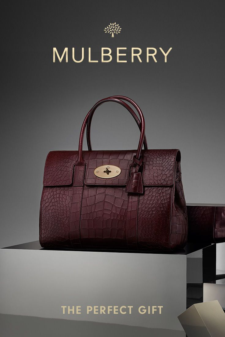 New Arrivals from Mulberry: Croc-embossed leather accessories