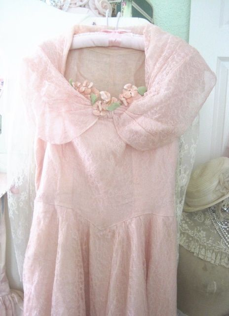 classy shabby chic pink things | The Porcelain Rose: Pink Lace & Velvet Posies ~ 1930's Charm