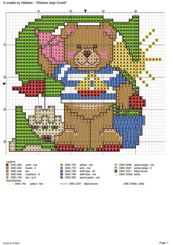 alfabeto degli orsetti : S