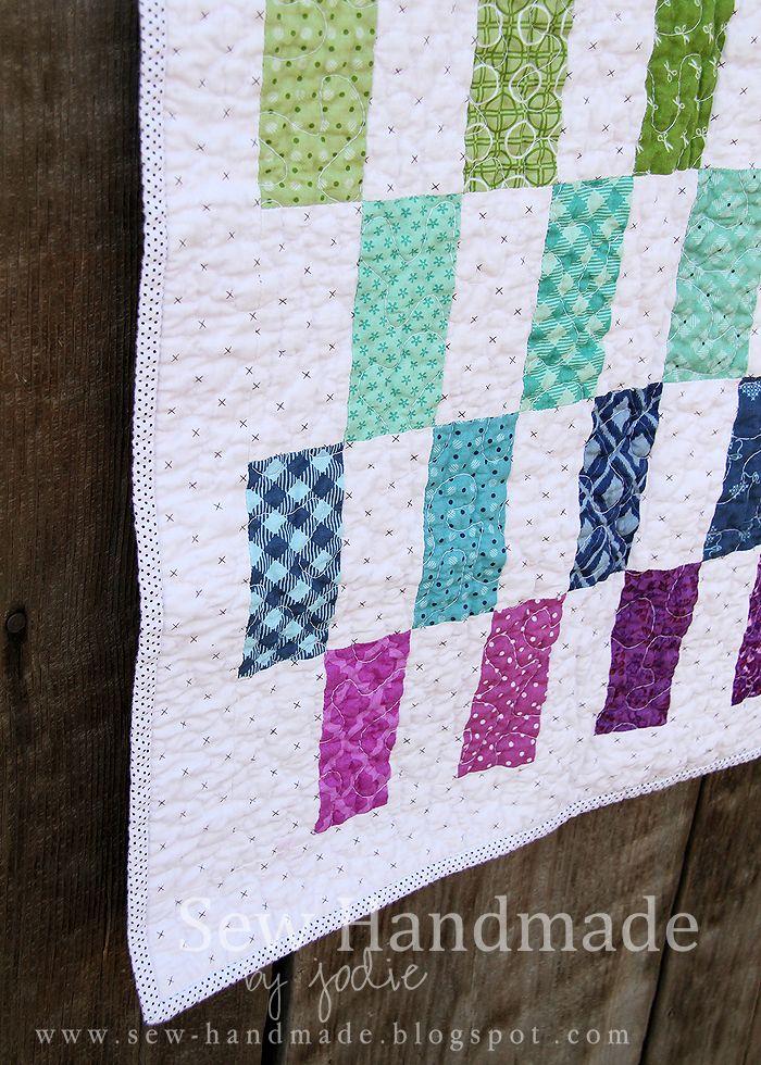 rainbow quilt www sew-handmade blogspot com | Baby Projects