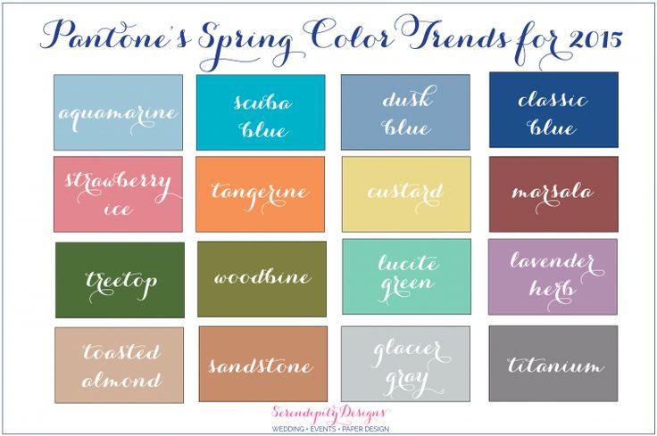 Pantone's Spring 2015 Color Trends! » { Serendipity Designs Weddings & Events } Pensacola Gulf Coast Wedding Planner
