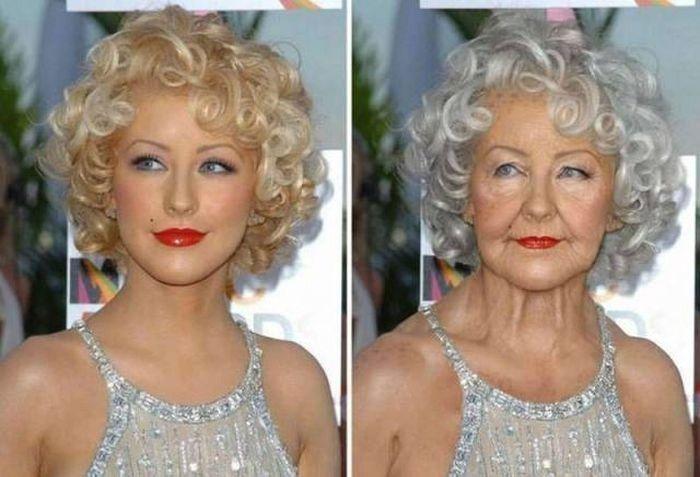 Christina Aguilera Age Progression