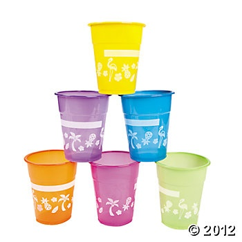 50 Luau Disposable Cups $8.50