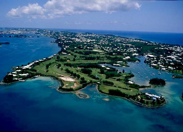 Riddell's Bay golf course, #Bermuda - aerial