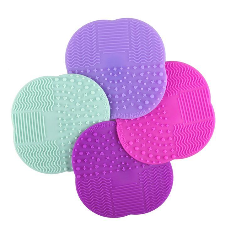 1 PZ 8 Colori Silicone Pulizia Cosmetici Make Up Lavaggio pennello Gel Cleaner Scrubber Strumento Fondamento di Trucco di Pulizia Pad Mat strumento