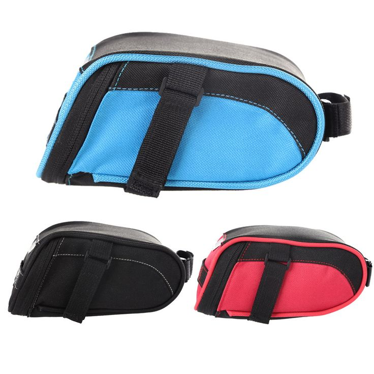 Cycling Saddle Bag Bicycle Seat Pouch Storage Bag Bike Rear Tail Waterproof  PVC + Nylon Oxford Bag Cycling Bike Bicycle Bag