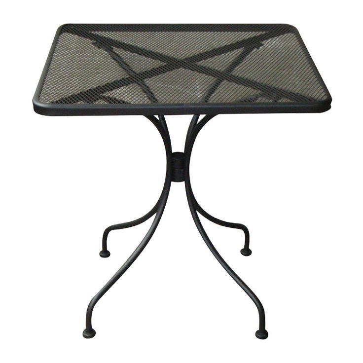 Brio garden table square steel mesh black