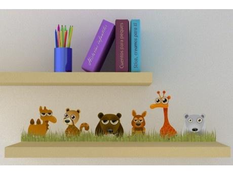 Familia Animales Selva en Pegatina
