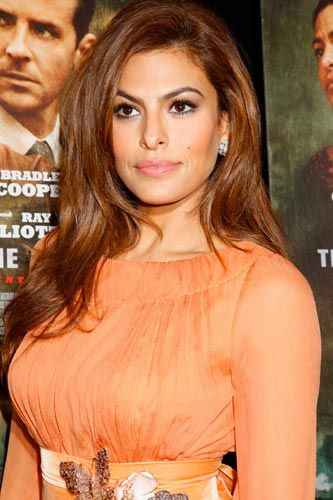 Name: Eva Mendes Human Years: 39 Eva Mendes was actually created after the incredible financial success of the Paul Rudd HotBot. Eva is a tribute to modern science's ability to construct the perfect eyebrow. And, based on the records we examined, over $20 million in R&D was spent on locating the precise placement of her beauty mark.   Photo: Photo: Gregory Pace/BEImages.