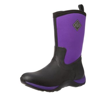 Muck Boot Arctic Weekend Waterproof Insulated Rubber Work Boots Black Purple W6 US