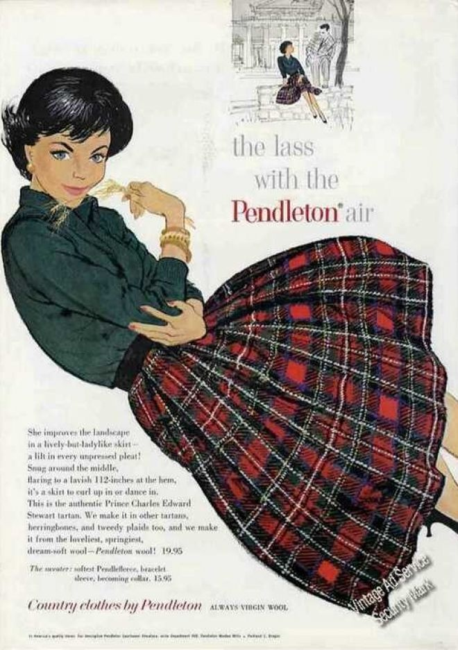 """""""The Lass With the Pendleton Air"""" Fashion (1960)"""