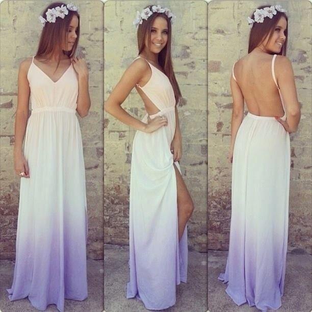 Backless Condole V-Neck Dress
