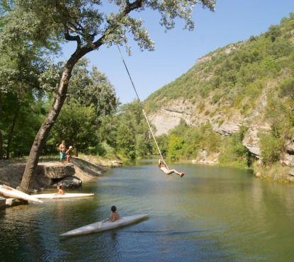 Ardeche, rivier en zwembad, 68 plekjes