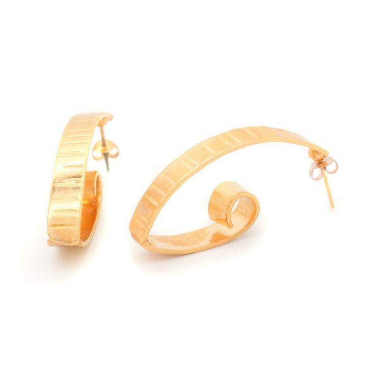 "HANDMADE BRONZE EARRINGS ROSE GOLD PLATED ""FIZ"" www.bijoubox.gr  #bijoubox #earring #bronze #rose #gold #handmade #greece #greek #jewelry #jwl"