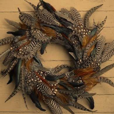 Fall Feather Wreath Note: I love all the natural colors Very different.