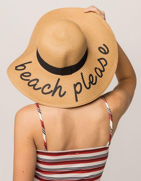 ba919055064c9 Beach Please Womens Straw Hat. Beach Please Womens Straw Hat Raffia Hat