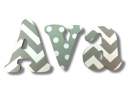 Chevron Letters Painted Letters Wooden Wall by CuteBoutiqueLetters, $10.00