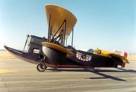 """Este Loening OV-1, o """"San Francisco"""", que esteve em Natal, está preservado no Smithsonian's National Air and Space Museum, em Washington D. C."""