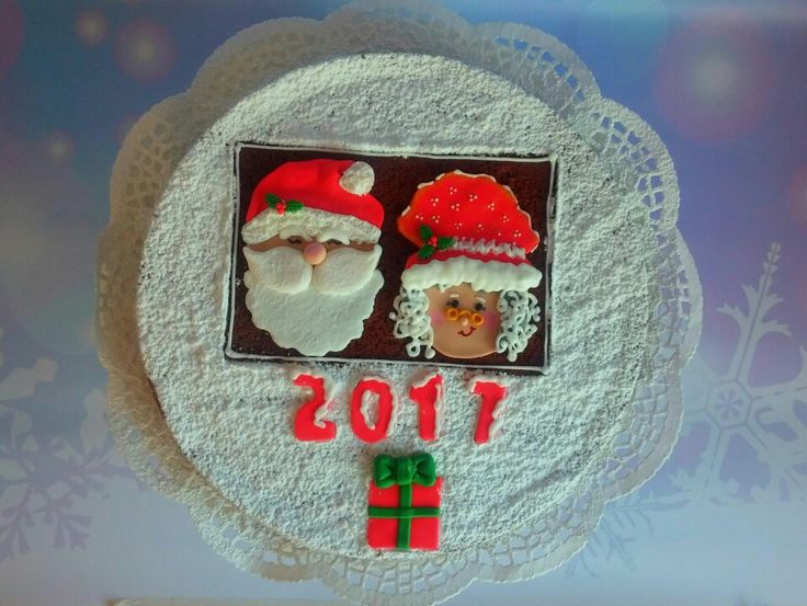 Mr and Mrs Claus cake!