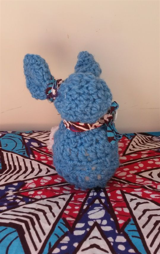 Rizu was completely crochet handmade, with love, and with materials we like : wool, wax,button.  He is waiting for you, come on our shop to adopt Rizu !  https://www.etsy.com/ca-fr/shop/Zuberlulu