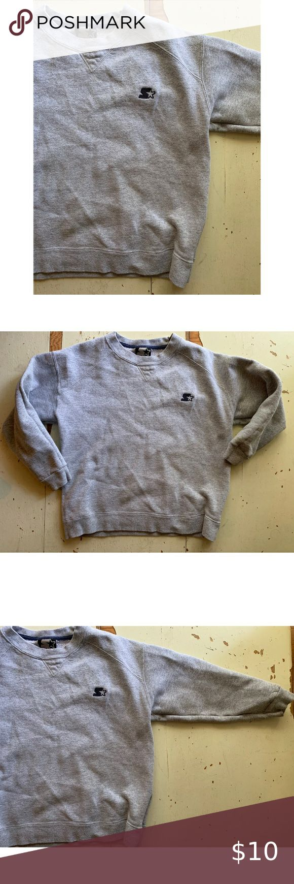 Starter Grey Crew Neck Sweatshirt Kid S Sweater From Starter Heavyweight Super Warm And Comfy Long Slee Crew Neck Sweatshirt Sweatshirts Comfy Long Sleeve [ 1740 x 580 Pixel ]