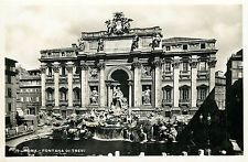 Italy 1930s Real Photo Postcard Roma Rome - Fontana di Trevi