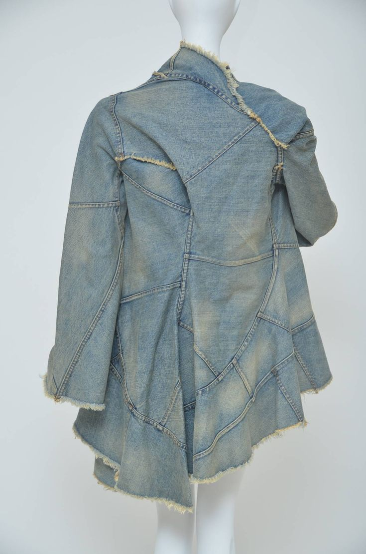 Junya Watanabe Comme Des Garcons Distressed Denim jacket  AD 2001  S image 2