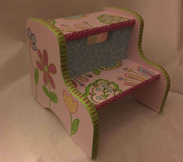 whimsey step stool hand painted step stool girls step stool by babydreamdecor on Etsy & 40 best hand painted step stools images on Pinterest | Hand ... islam-shia.org