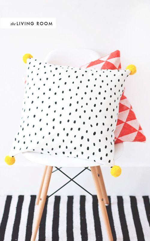Pom pom pillow from The Lovely Drawer