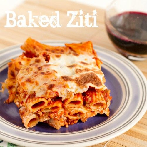 Baked Ziti — Not your typical baked ziti, because it uses sour cream instead of ricotta. (Click on image for recipe) via @poet in the pantry