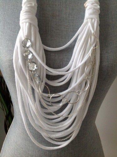 pretty white string scarf