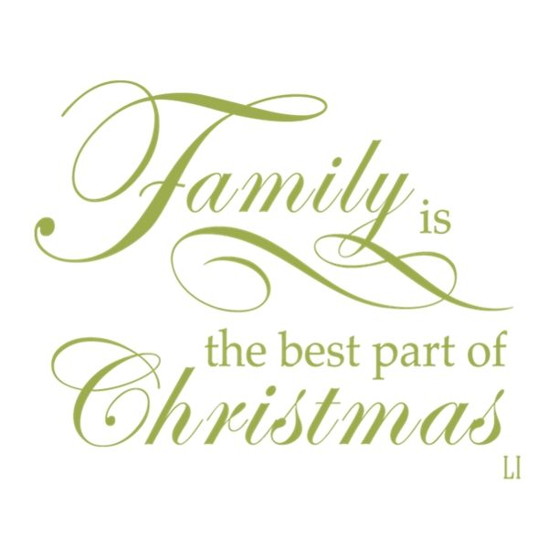 Family is the best part of Christmas