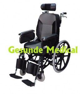Kursi Roda Deluxe FS204BJQ-46  kursi-roda.net juga jual kursi roda deluxe. Kursi roda yang mahal dan mewah. Kursi roda ini menggunakan dudukan dengan busa yang tebal. Kursi roda ini juga bisa direbahkan (dijadikan tempat tidur) yang kemiringannya dapat diatur. Kursi roda deluxe ini menggunakan ban hidup dan velg racing. Kenyamanan dan kemewahan yang ditawarkan kursi roda deluxe ini sebanding dengan harganya yang cukup mahal.