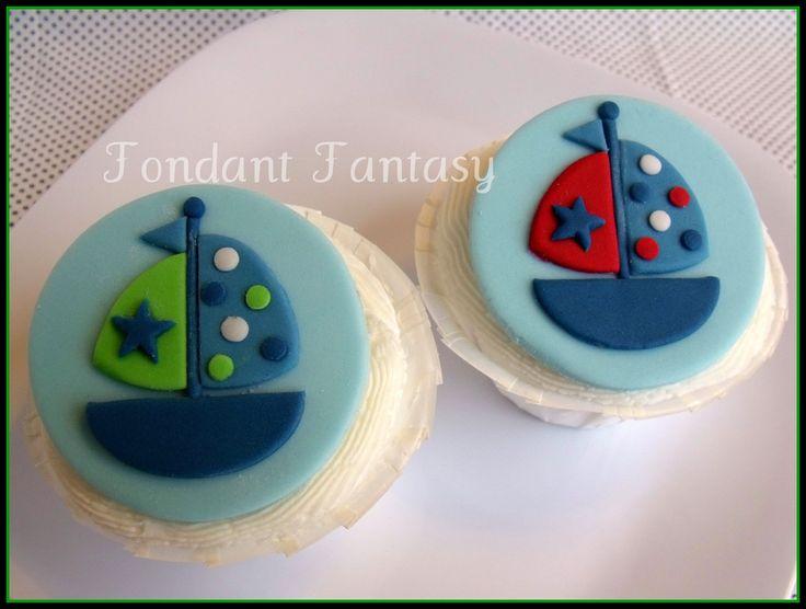Sailboat+Cupcake+Topper+by+FondantFantasy+on+Etsy,+$18.00