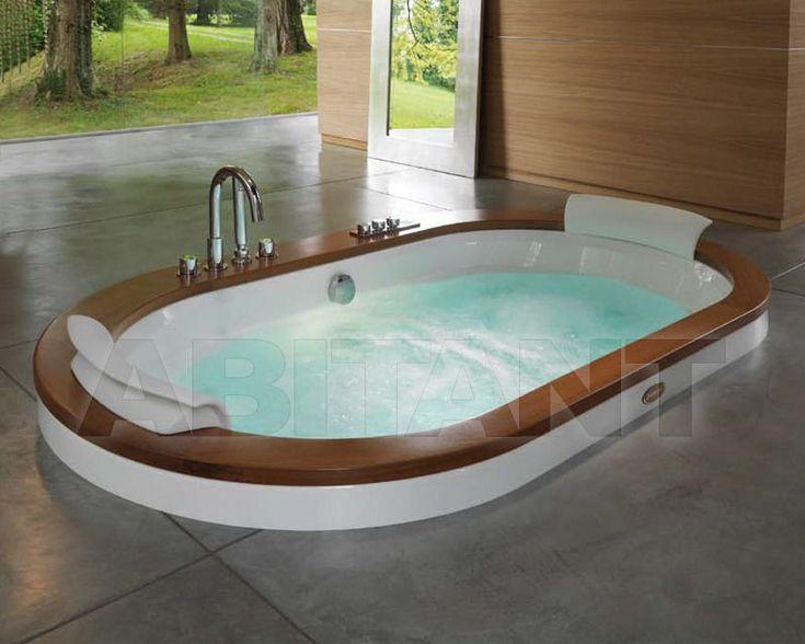 Ванна гидромассажная бежевая Jacuzzi opalia wood/stone, Каталог сантехники для ванной ABITANT Москва