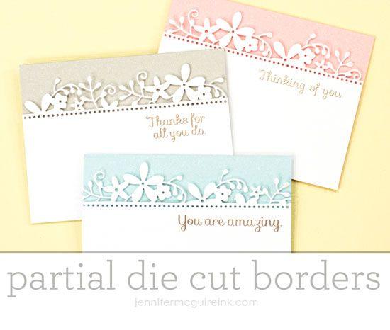Partial Die Cut Border Video by Jennifer McGuire Ink