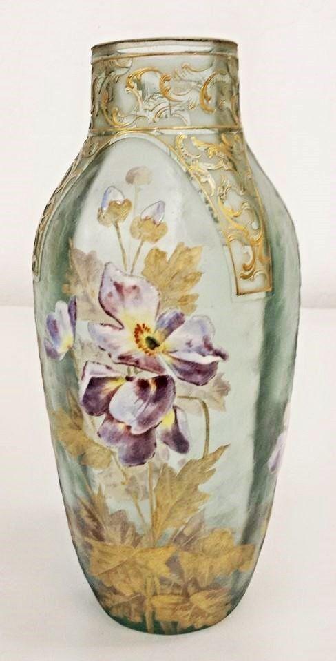 MONT JOYE French Art Glass Vase ~ Michelle's Antiques