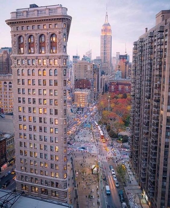 backside of the Flatiron building & Empire State Building in the distance | Manhattan, New York City, New York, USA