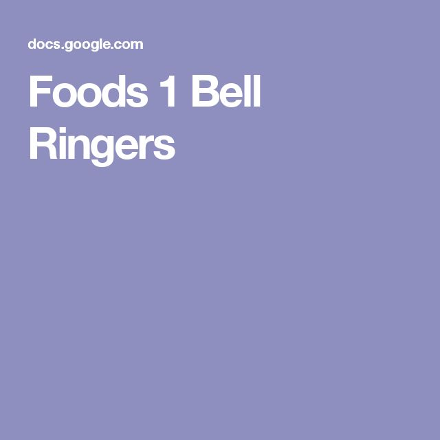 Foods 1 Bell Ringers