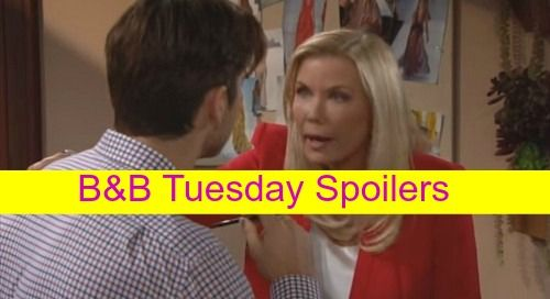 """""""The Bold and the Beautiful"""" spoilers for Tuesday, October 27, tease that Julius (Obba Babatunde) will lay down the law with Nicole (Reign Edwards)."""
