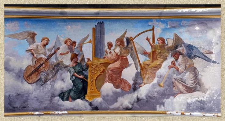 Angeli musicanti, Vincenzo Galloppi (1849 – 1942) Napoli, Chiesa di San Nicola da Tolentino
