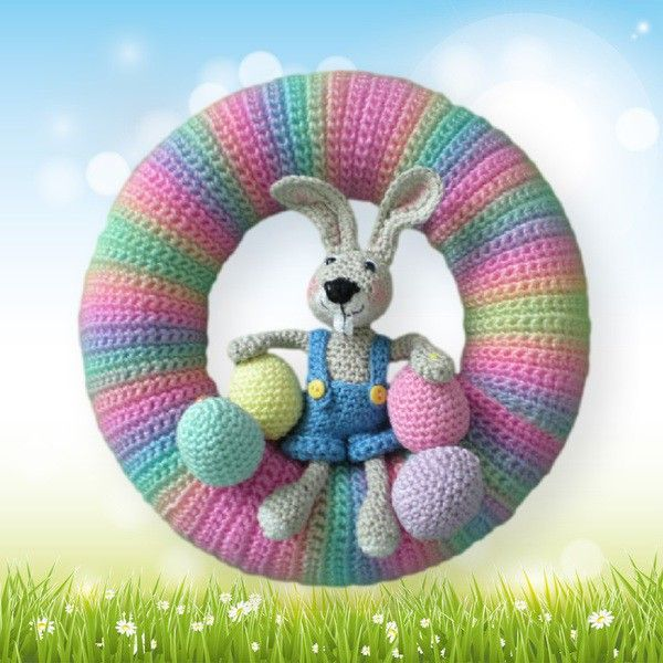 Eastern door wreath - CrazyPatterns: Your marketplace for crochet, knitting, sewing and crafts // e-books and patterns $2.52