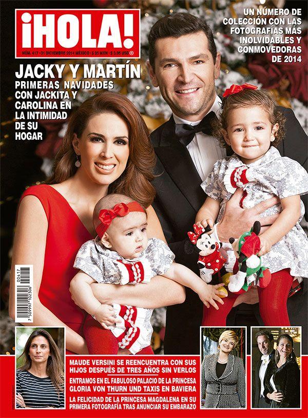 En ¡HOLA!: Jacky y Martín, las primeras navidades con Jacky y Carolina en la intimidad de su hogar