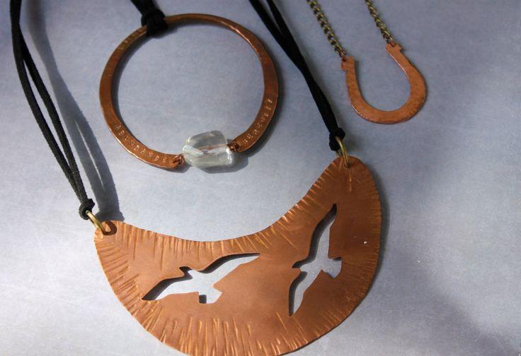 Copper & crystal artisan jewellery