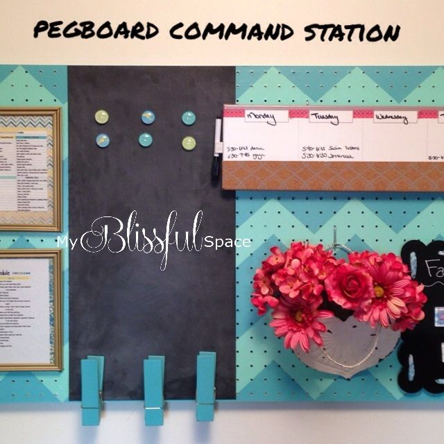 DIY Pegboard Command Station