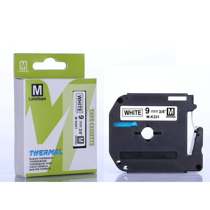 15pcs/lot 9mm*8m black on white MK221 mk 221 mk-221 m-k221 label tape compatible printer Ribbons label machine. Yesterday's price: US $62.99 (52.06 EUR). Today's price: US $54.17 (44.77 EUR). Discount: 14%.