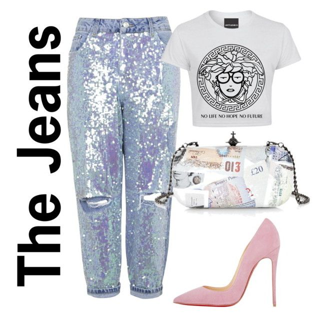 """""""Jeans we Love"""" by doubleblonded on Polyvore featuring Topshop, Vivienne Westwood and Christian Louboutin"""
