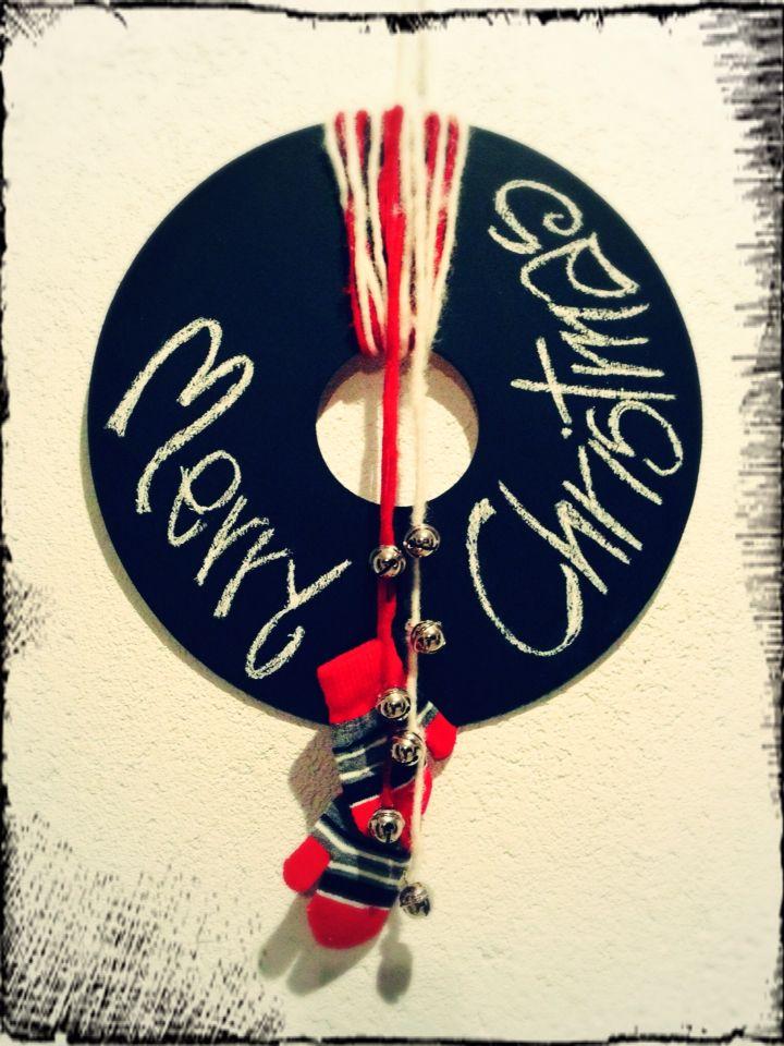 Christmas wreath, blackboard- corona natalizia, lavagna