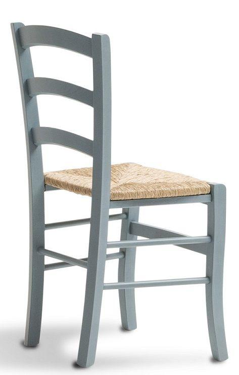 Sedia azzurra in legno di faggio, impagliata. Catalogo Demar Mobili pino. #sedie #offerte #promozioni #arredamenti #sedierustiche #mobilirustici www.demarmobili.it